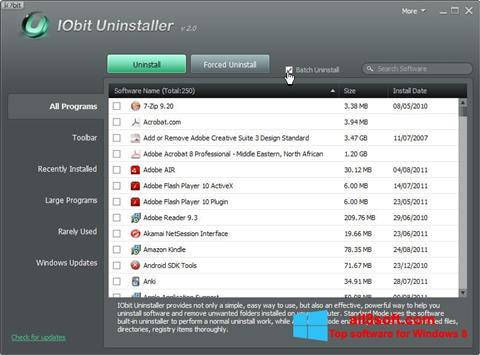 Skärmdump IObit Uninstaller för Windows 8