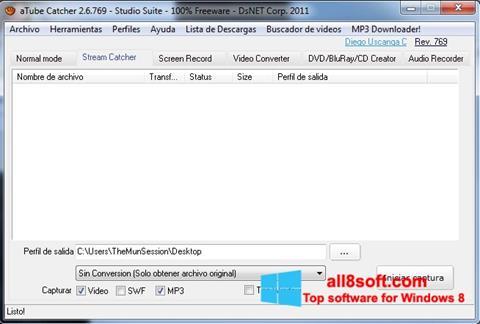 Skärmdump aTube Catcher för Windows 8