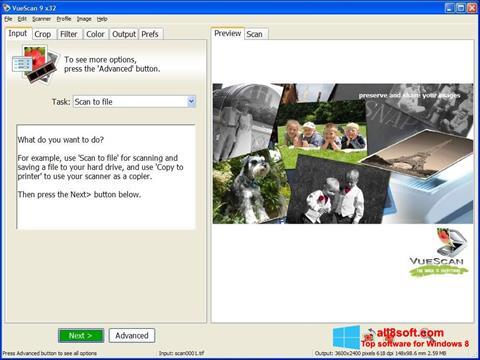 Skärmdump VueScan för Windows 8