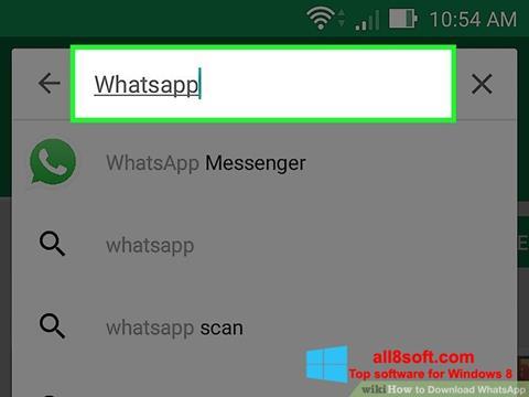 Skärmdump WhatsApp för Windows 8