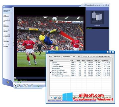 Skärmdump SopCast för Windows 8