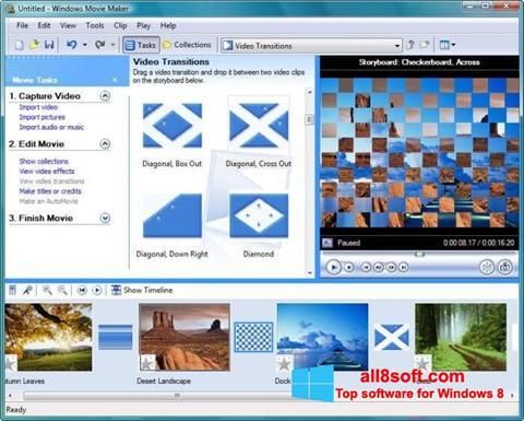 Skärmdump Windows Movie Maker för Windows 8
