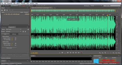 Skärmdump Adobe Audition för Windows 8