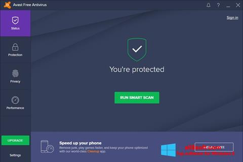 Skärmdump Avast Free Antivirus för Windows 8