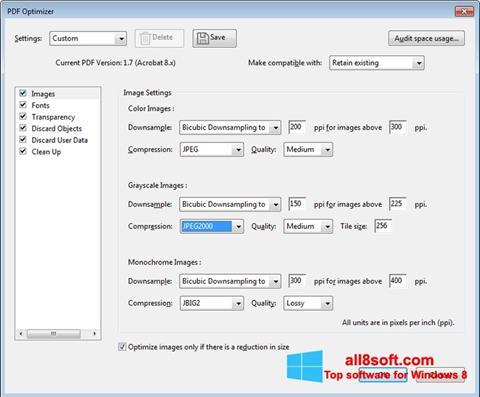 Skärmdump Adobe Acrobat Pro DC för Windows 8