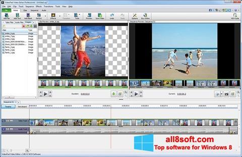 Skärmdump VideoPad Video Editor för Windows 8
