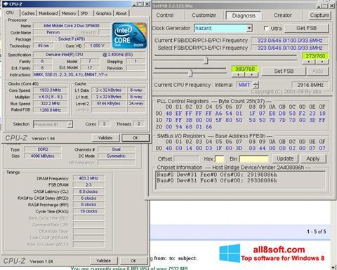 Skärmdump SetFSB för Windows 8