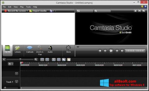 Skärmdump Camtasia Studio för Windows 8