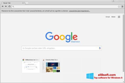 Skärmdump Google Chrome för Windows 8