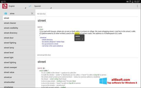 Skärmdump ABBYY Lingvo för Windows 8