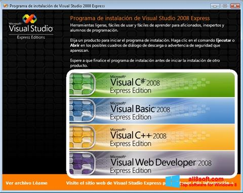 Skärmdump Microsoft Visual Studio för Windows 8