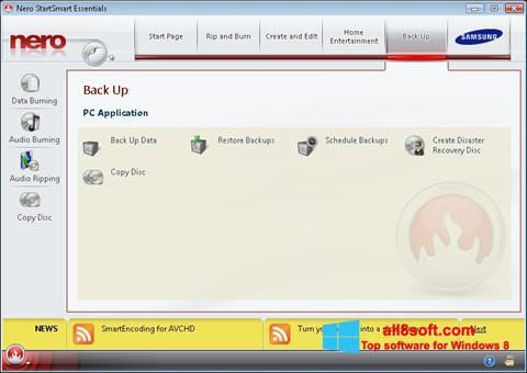 Skärmdump Nero för Windows 8